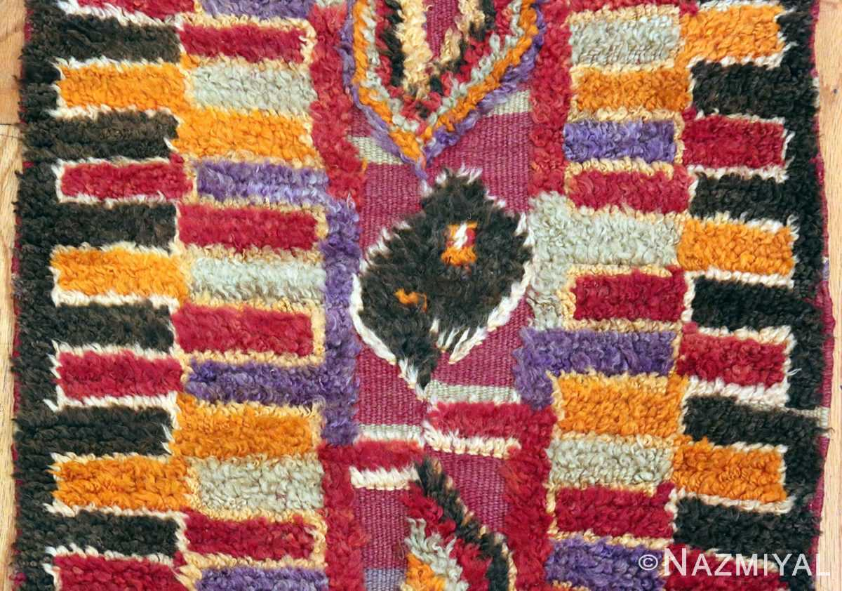 Funky Purple Vintage Moroccan Runner Rug #49942 from nazmiyal Antique Rugs in NYC