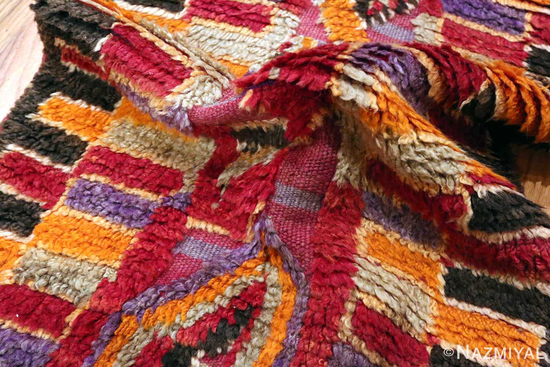 Funky Purple Vintage Moroccan Runner Rug #49942 from nazmiyal Antique Rugs in NYC