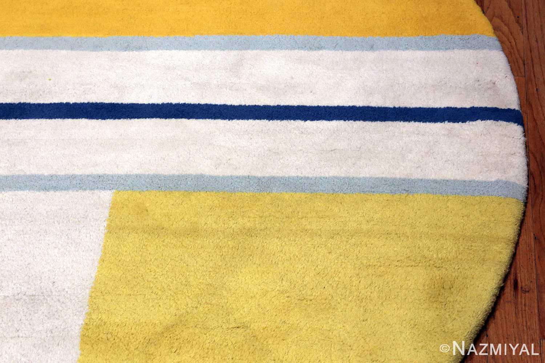 Vintage Gold Round Ilya Yulievich Bolotowsky Art Rug #49949 Nazmiyal