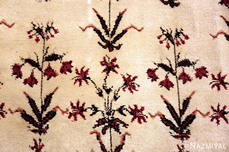Ivory Room Size Antique Indian Agra Carpet #49959 - Nazmiyal