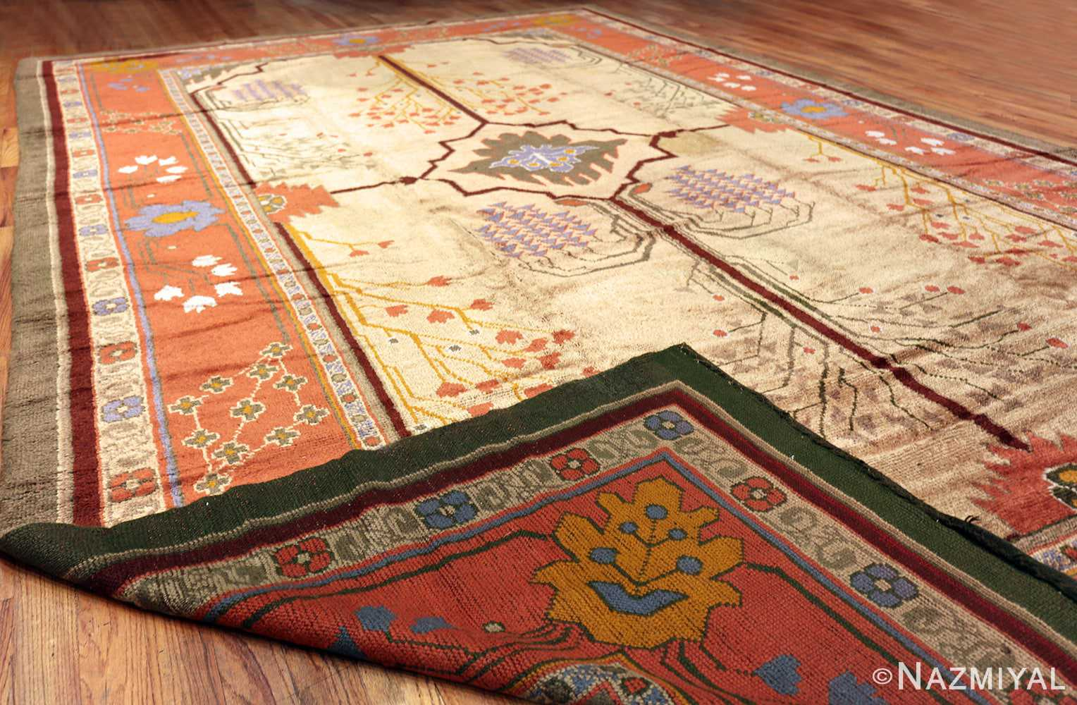Large Antique Irish Arts and Crafts Donegal Rug #49987 by Nazmiyal