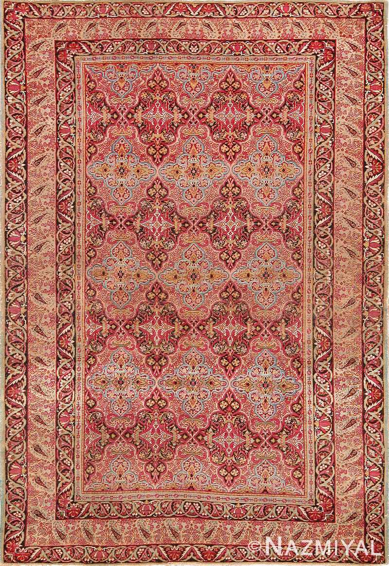 Mid 19th Century Fine Antique Persian Kerman Rug 49990 from Nazmiyal