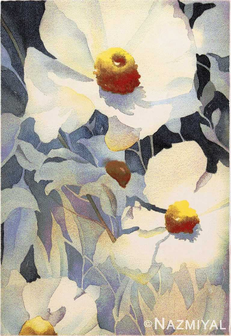 Modern Masters Art Rug Georgia O'Keeffe 49998 from Nazmiyal