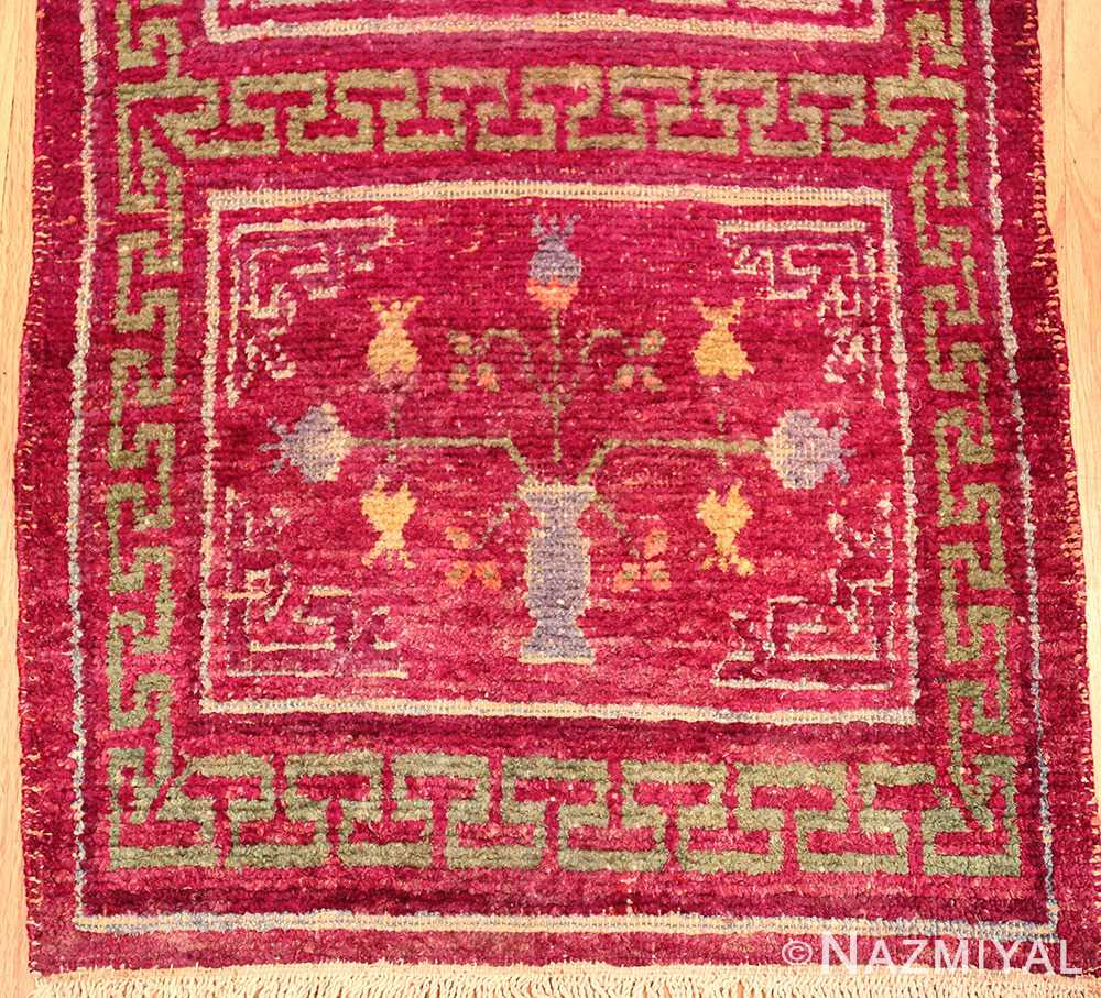 Small Pomegranate Design Antique Purple Silk Khotan Runner Rug #49970 - From Nazmiyal Antique Rugs in NYC.