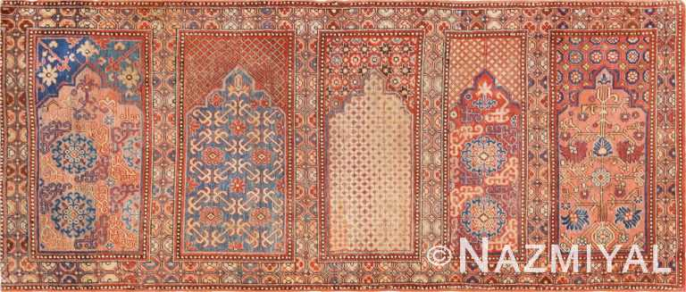 1800's Khotan Saf Prayer rug from East Turkestan #49972 from Nazmiyal Antique Rugs in NYC.