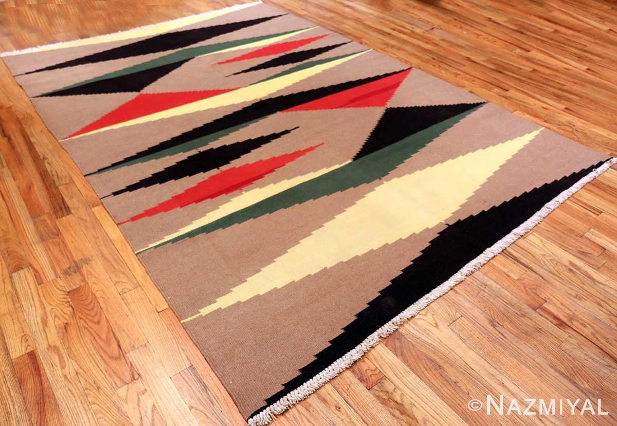 Vintage Flat Woven French Art Deco Kilim Carpet #49931 - Nazmiyal