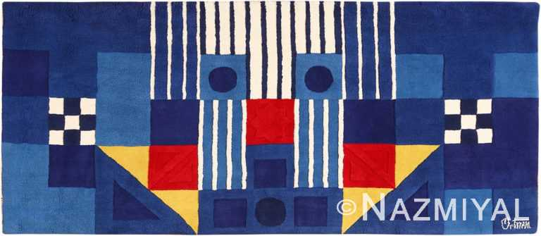 Blue Vintage George Earl Ortman Art Rug #49948 - From nazmiyal