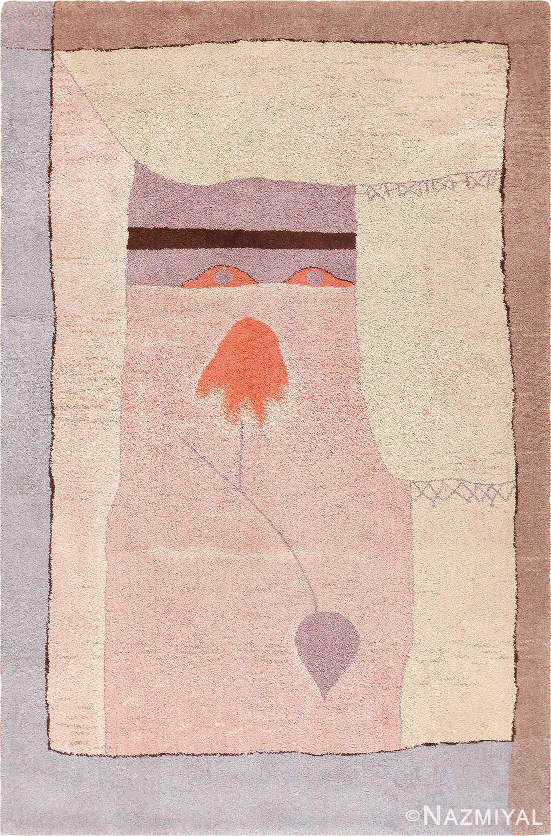Vintage Scandinavian Ege Art Line Paul Klee Arab Song Rug #49997 from Nazmiyal Antique Rugs in NYC