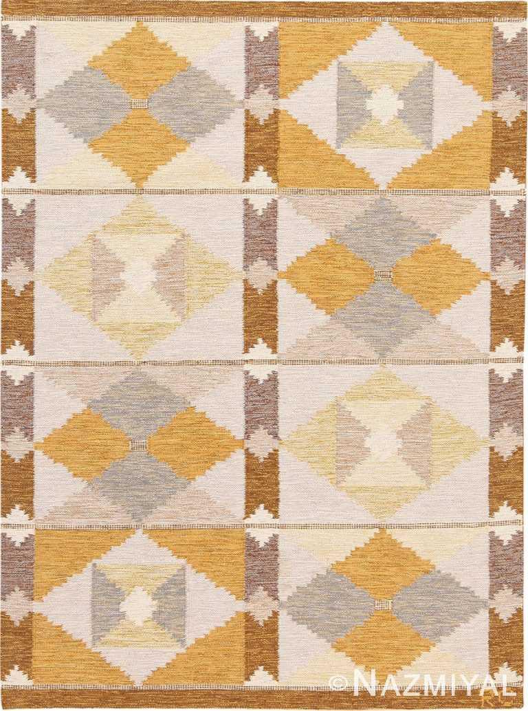 Vintage Swedish Scandinavian Carpetby Rakel Callander #49946 - Nazmiyal