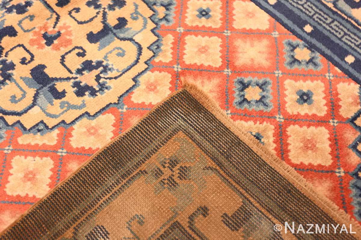 Weave Small Coral color Antique Chinese rug 49973 by Nazmiyal