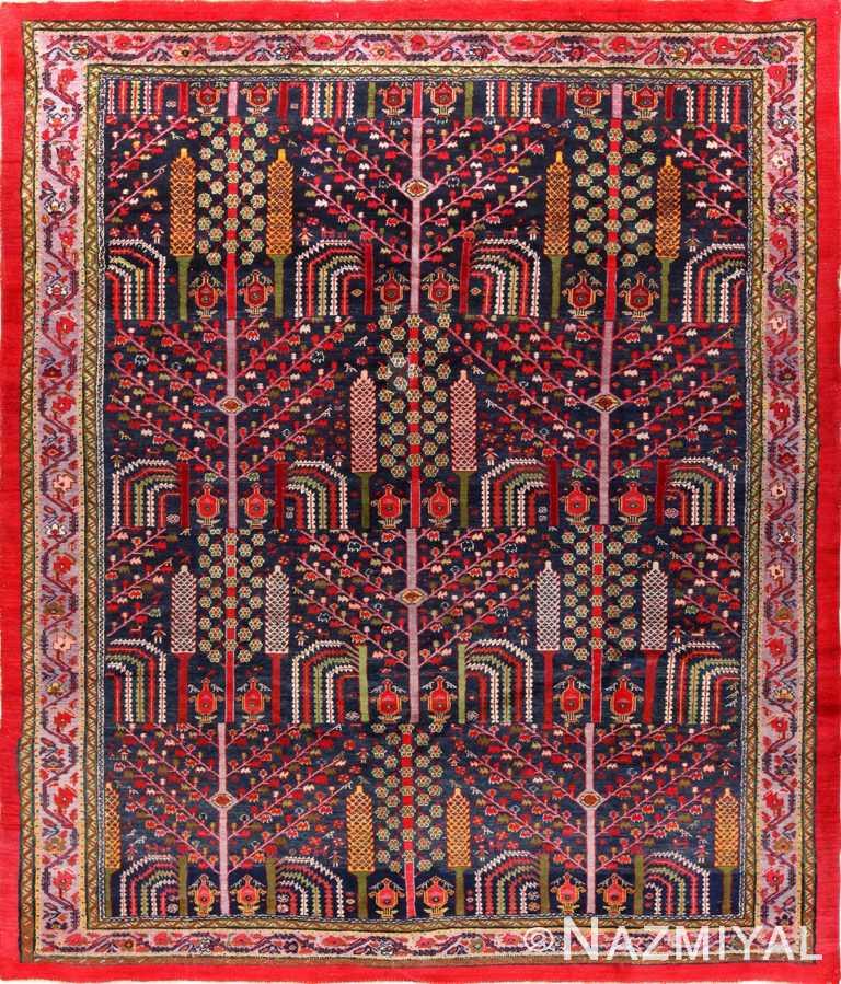 Weeping Willow Tree Design Antique Persian Malayer 49996 - Nazmiyal
