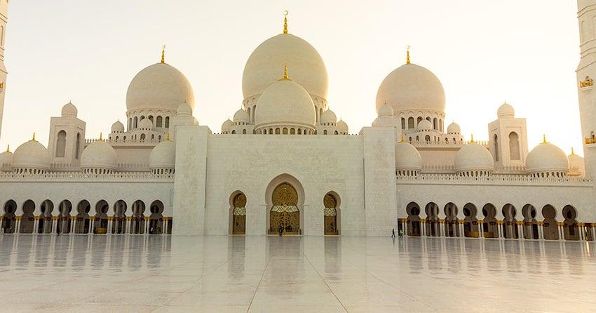 Sheikh Zayed Al Nahyan Mosque Abu Dhabi - Nazmiyal Antique Rugs in NYC