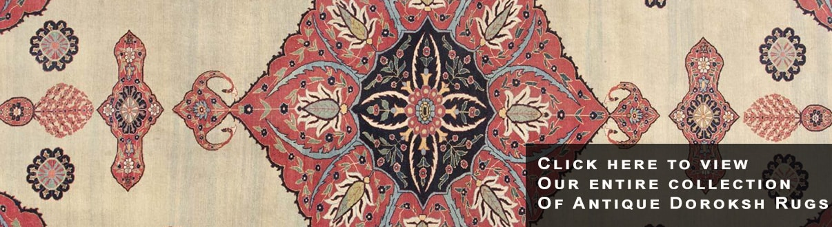 Find Antique Persian Doroksh and Khorassan Rugs - Nazmiyal