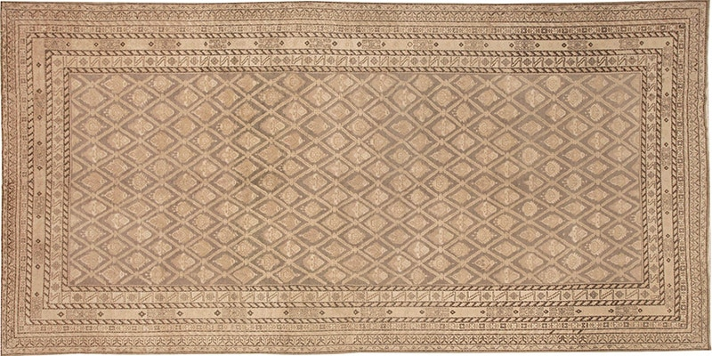 Antique Grey Color Khotan Carpet #48080 - Nazmiyal Rugs