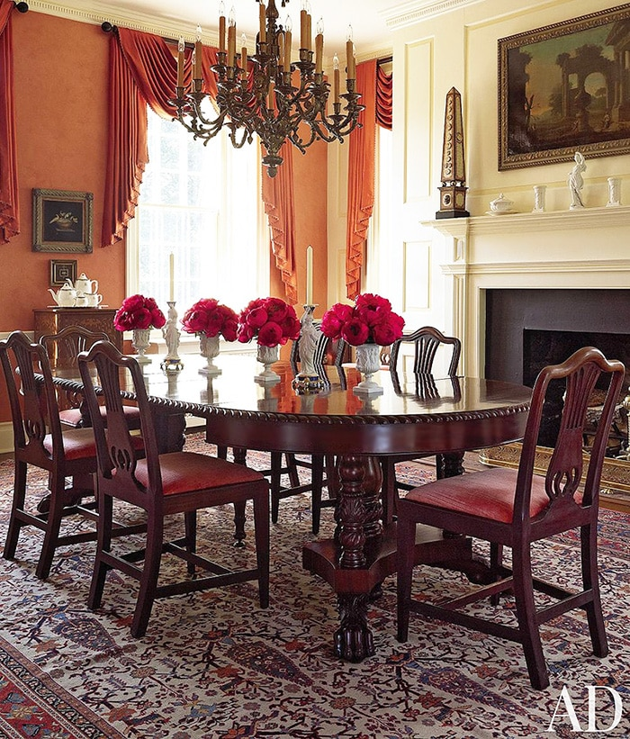 Antique Traditional Dining Room Rugs