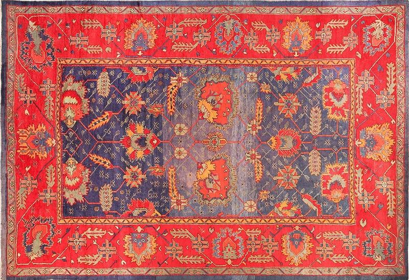 Antique Turkish Oushak Rug - Nazmiyal