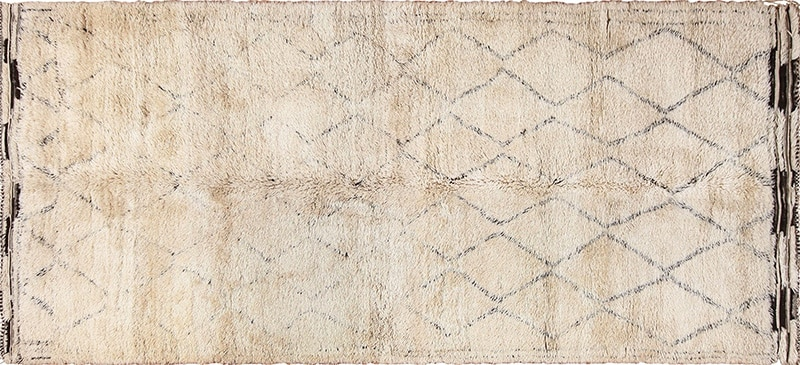 Grey Color Vintage Moroccan Rug #49457 from Nazmiyal Antique Rugs in NYC