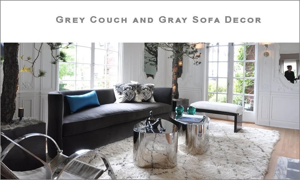 Grey Couch Decor Interior Decorating With Gray Sofa And Rugs