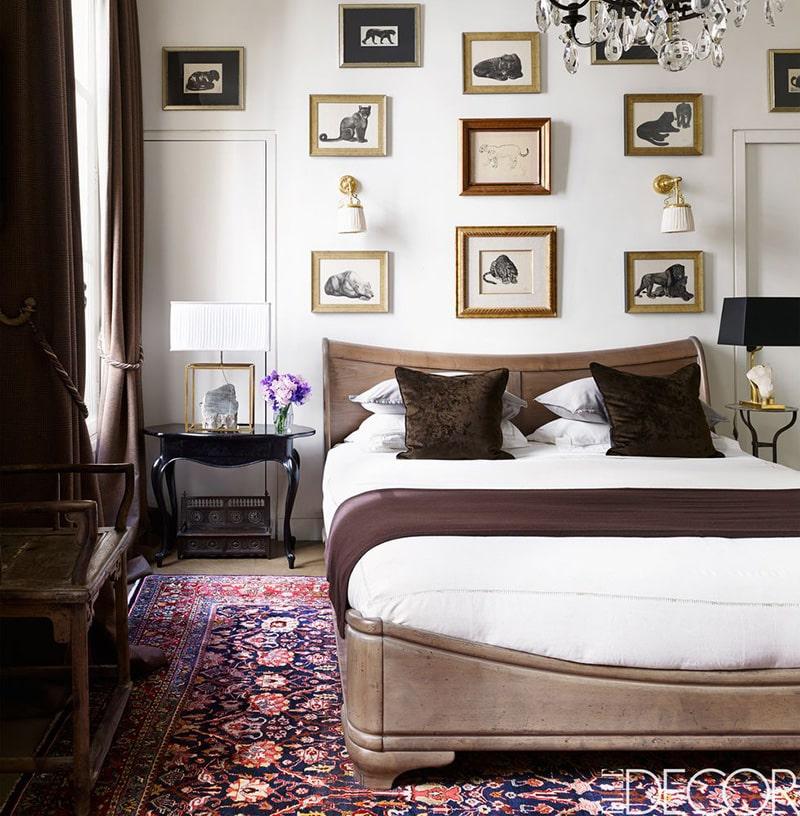 Jewel Tone Color Oriental Bedroom Rug - Nazmiyal