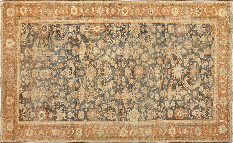 Large Antique Sultanabad Persian Grey Color Rug #49366 from Nazmiyal Antique Rugs