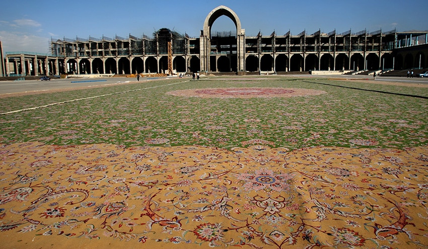Largest Rug In The World On Display in Tehran Iran - Nazmiyal Antique Rugs
