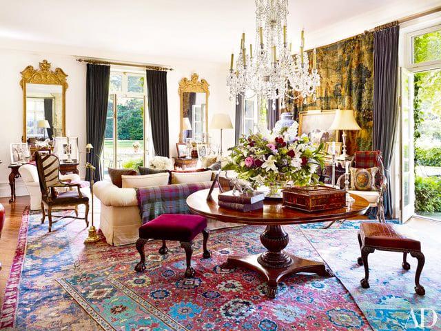 Decor With Layered Living Room Rugs - Nazmiyal
