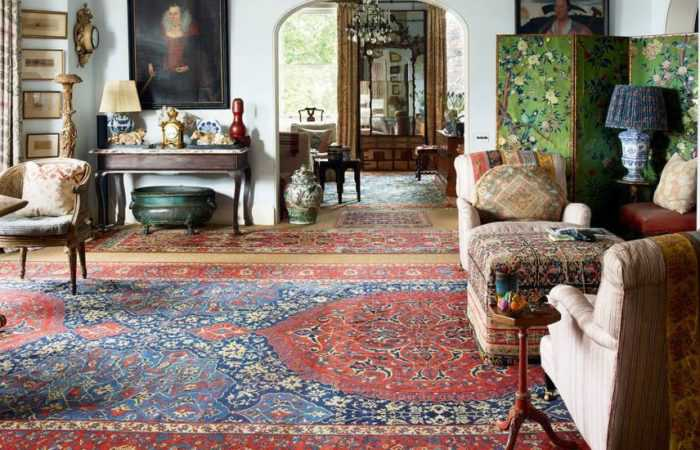Living Room Rugs In Interiors - Nazmiyal Rugs