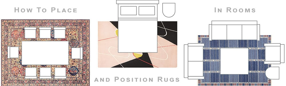 How To Place Or Position Rugs In Room Decor