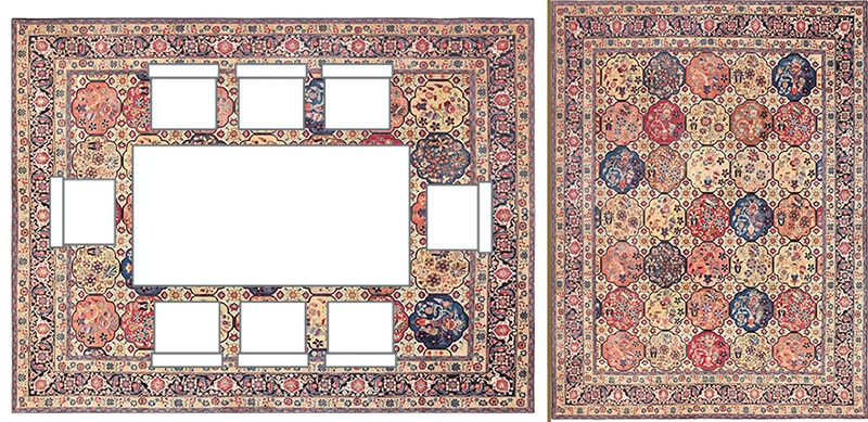 Rectangular Dining Room Table Layout With Rug Positioned Under The Table - Nazmiyal