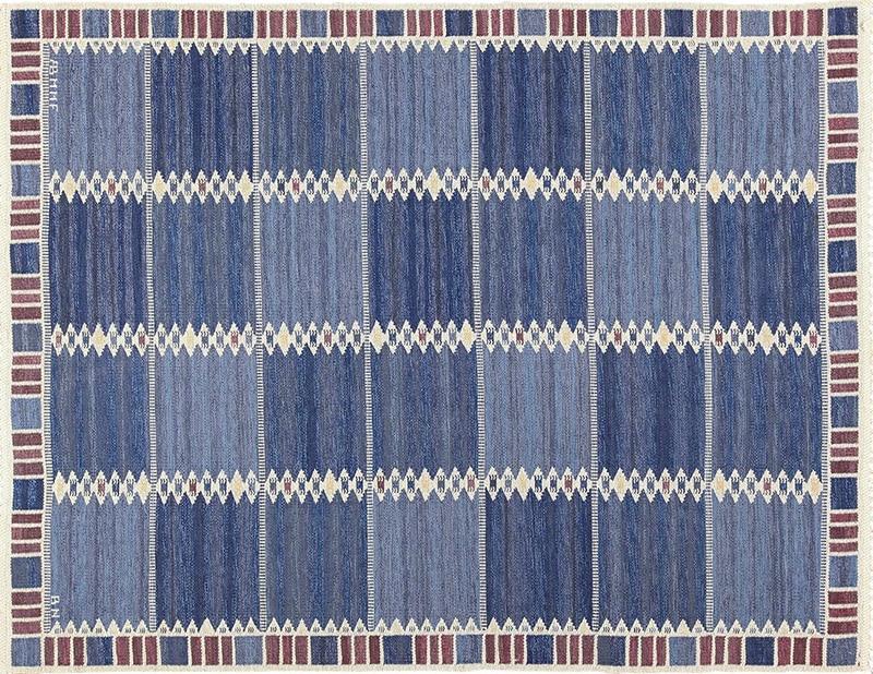 Scandinavian Rug by Barbro Nilsson - Nazmiyal