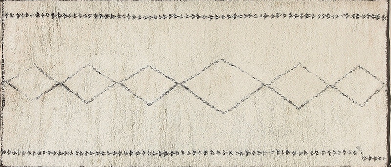 Vintage Moroccan Beni Ourain Grey Color Rug #47899 - Namziyal