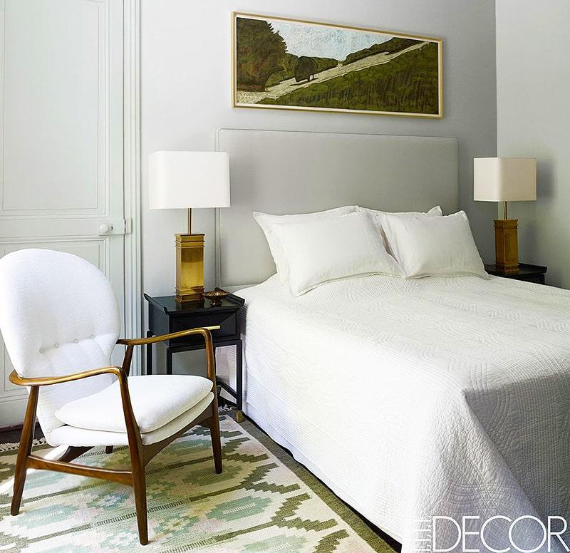 Vintage Scandinavian Bedroom Rug - Nazmiyal
