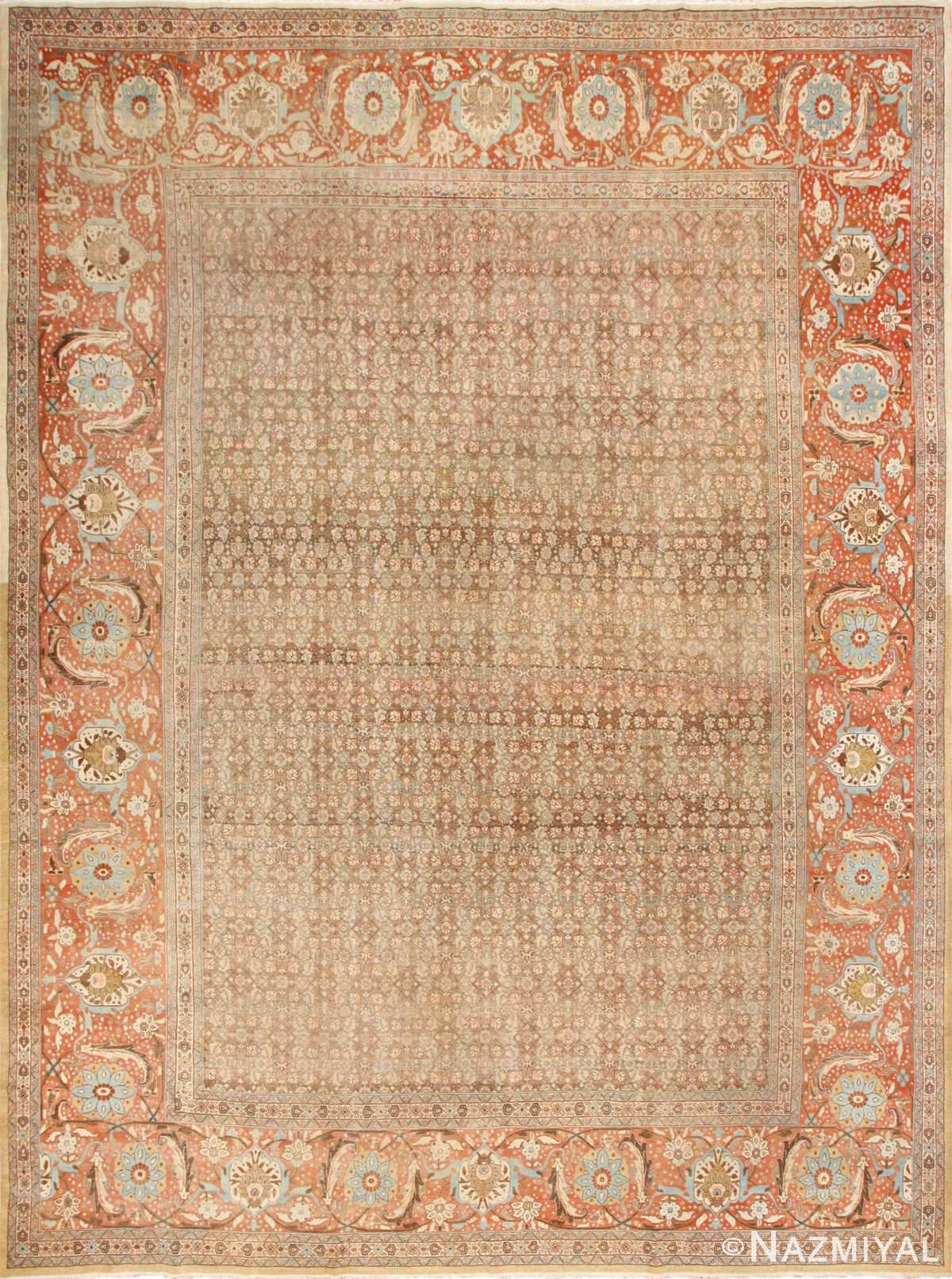 Antique Persian Tabriz Rug 50627 by Nazmiyal