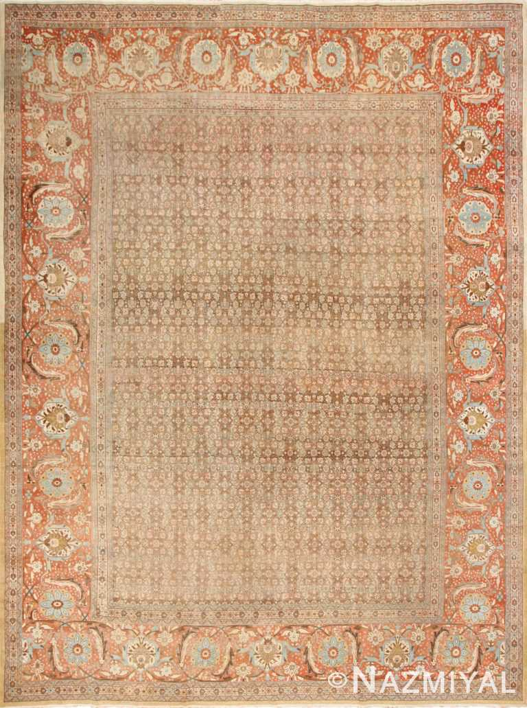 Antique Persian Tabriz Rug 50627 by Nazmiyal