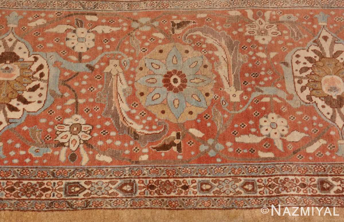 Border Picture of Antique Persian Tabriz Rug #50627 from Nazmiyal Antique Rugs in NYC