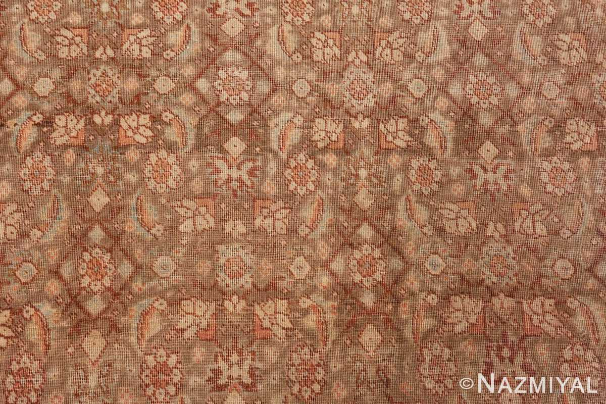 Close Up Picture of the Field of Antique Persian Tabriz Rug #50627 from Nazmiyal Antique Rugs in NYC