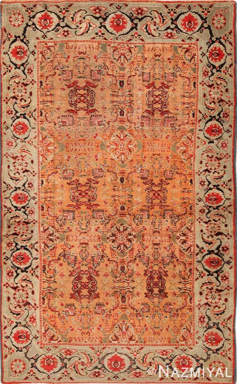 Late 19th Century Antique Indian Agra Rug 70016 by Nazmiyal