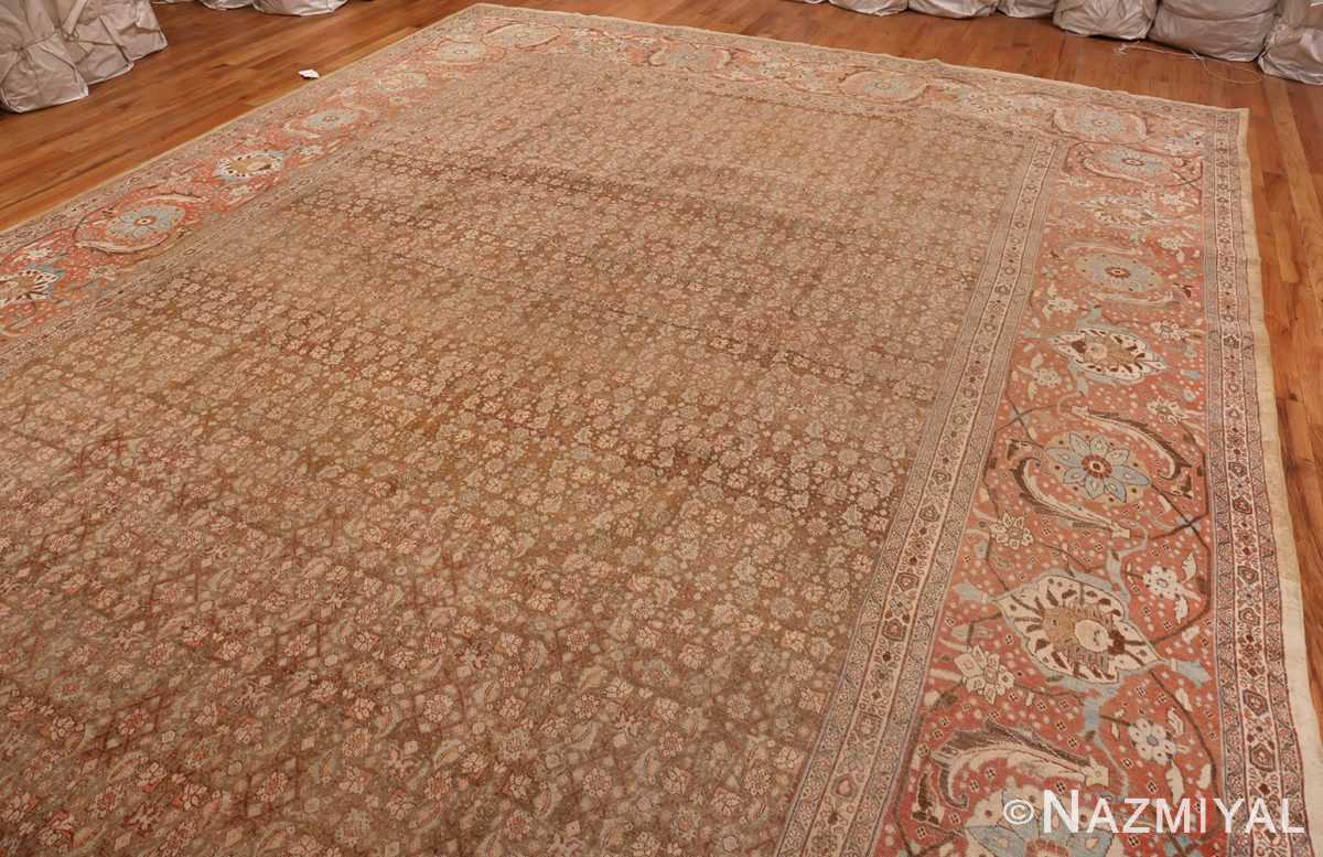 An Overall Picture of Antique Persian Tabriz Rug #50627 from Nazmiyal Antique Rugs in NYC