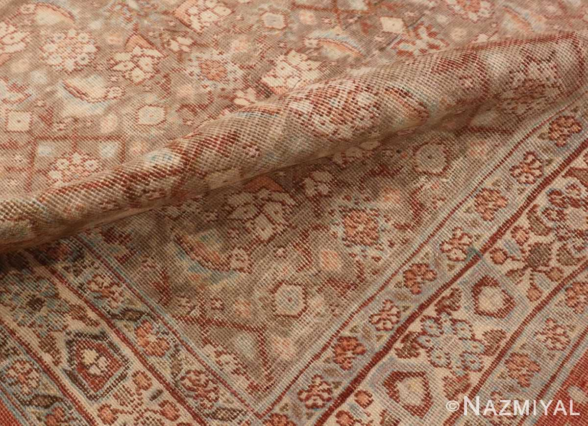 Close Up Picture of the pile of Antique Persian Tabriz Rug #50627 from Nazmiyal Antique Rugs in NYC