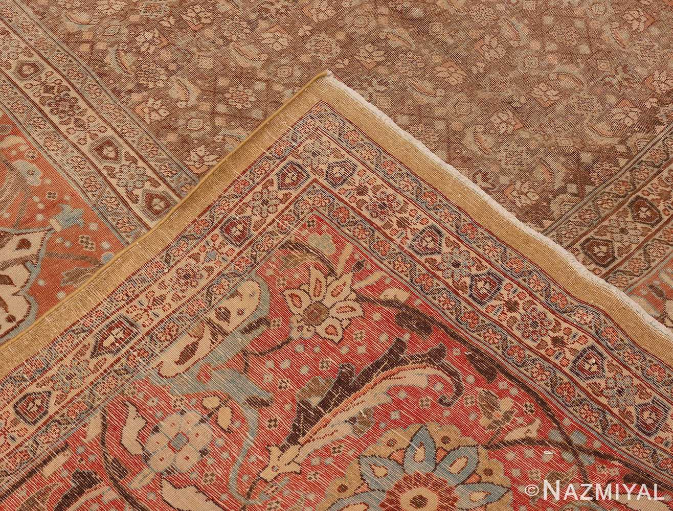 Picture of the Weave Of Antique Persian Tabriz Rug #50627 from Nazmiyal Antique Rugs in NYC