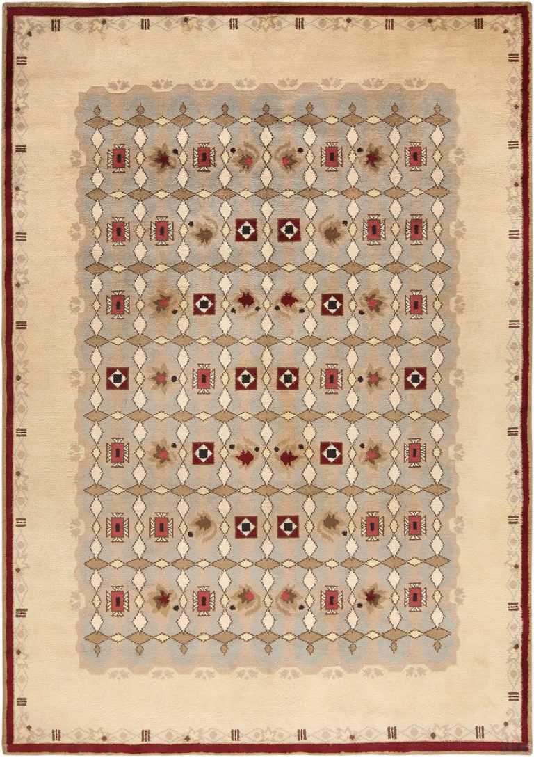 Picture of Antique French Art Deco Leleu Rug #70027 by Nazmiyal Antique Rugs in NYC