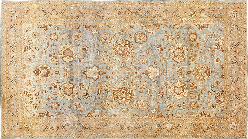 Picture of Antique Persian Kerman Allover Design Rug #48869 by Nazmiyal Antique Rugs in NYC