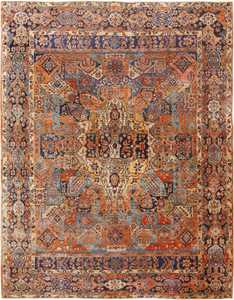 Picture of the Room Size Antique Persian Sarouk Carpet #70028 from Nazmiyal Antique Rugs in NYC