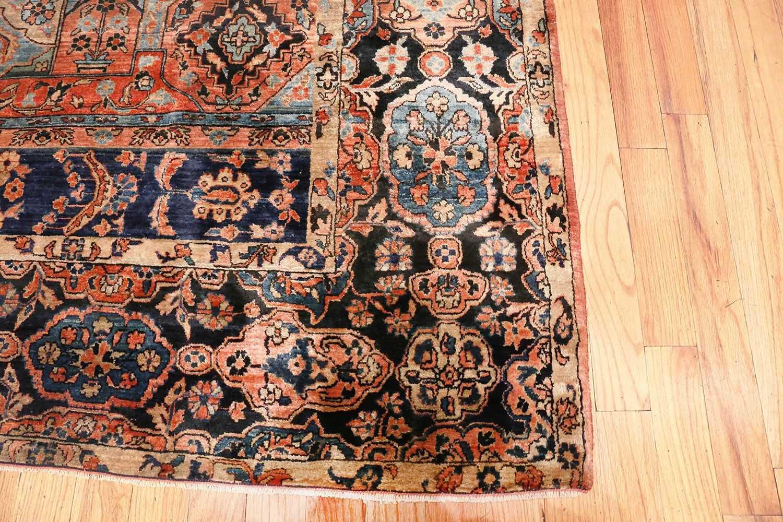 Room Size Antique Persian Sarouk Carpet 70028 Nazmiyal