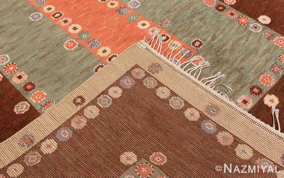 Picture of the weave of Vintage Scandinavian Marta Maas Fjetterstrom Tusenskonan Carpet 70024