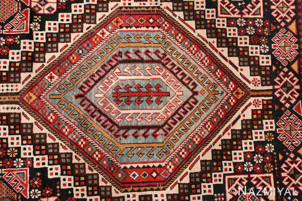 Picture of Center Details of Antique Caucasian Shirvan Rug #70038 - by Nazmiyal Rugs NYC