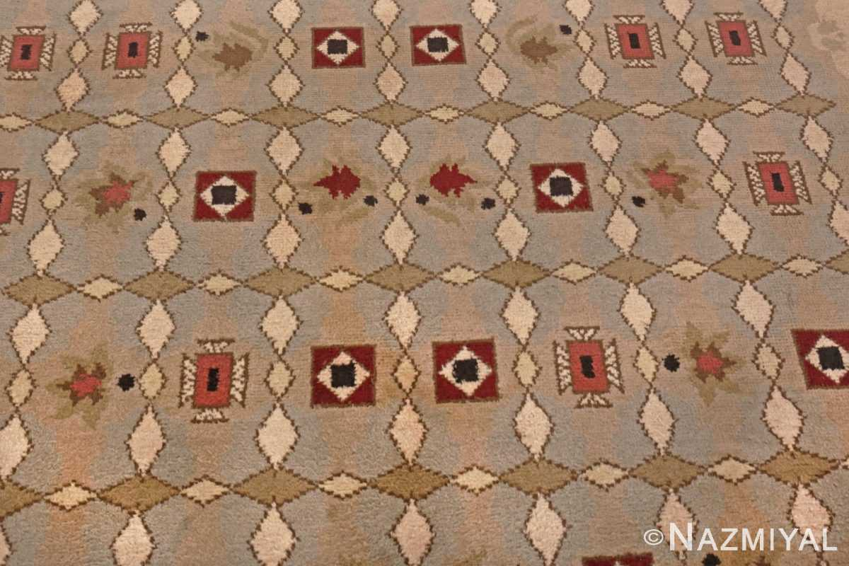 Image of Center Details of Antique French Art Deco Leleu Rug #70027 from the collection of Nazmiyal Antique Rugs NYC