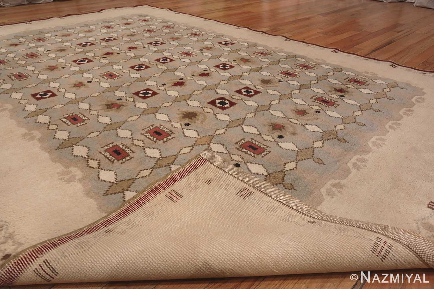 Image of Antique French Art Deco Leleu Rug #70027 from the collection of Nazmiyal Antique Rugs NYC