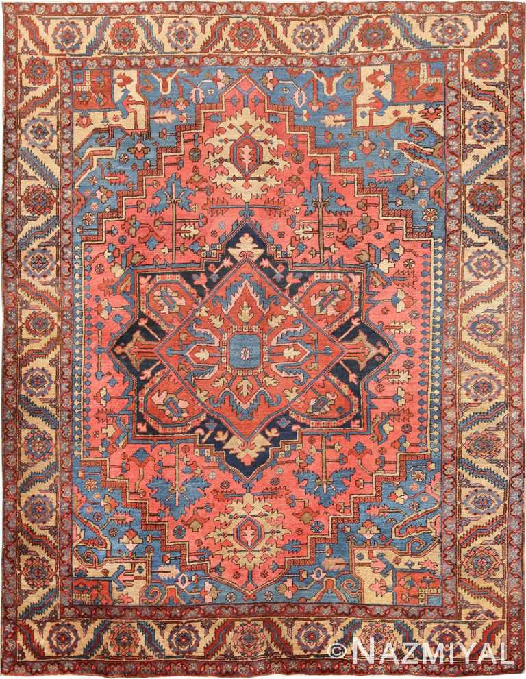 Antique Persian Medallion Heriz Rug #70020 from Nazmiyal Antique Rugs