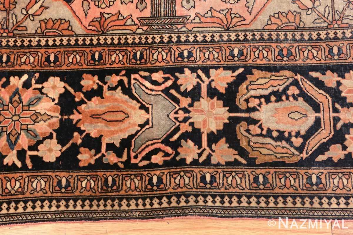 Image of Alluring Details of Antique Persian Mohtashem Kashan Floral Rug #70000 from the Collection of Nazmiyal Antique Rugs NYC